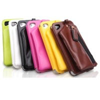 KASHIDUN WEI Series Leather Back Case with Wallet for iPhone 4/4s
