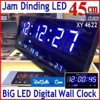 XY 4622 JAM DINDING DIGITAL BESAR LED CLOCK WALL 45 CM
