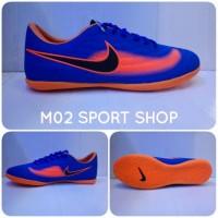 Sepatu futsal nike magista biru kombinasi orange