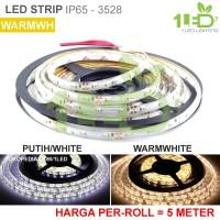 Lampu LED Strip Flexible Warmwhite Kuning Roll 5 Meter 6W IP65 SMD