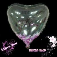 Balon Foil Love tranparant I Love U