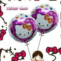 Balon Foil Bulat Love HELLO KITTY