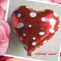 Balon Foil Love Polkadot