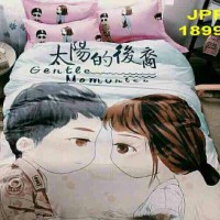 sprei couple decendant of the sun katun jepang panel
