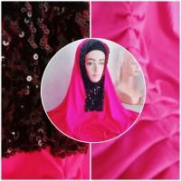 jilbab instan renda payet mewah