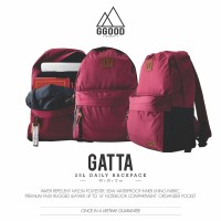 Tas Ransel Sekolah Kuliah Laptop Murah - Ggoodstuff Gatta Red Maroon