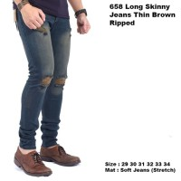 celana panjang jeans sobek pria / ripped jeans pria