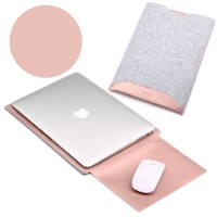 Tas Laptop/Softcase Leather Case with Mouse Pad for Macbook 11 - Pink
