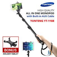 Tongsis Yunteng YT-1188 + Holder Tablet / Phablet - Galaxy Tab / iPad