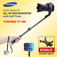 Tongsis Yunteng YT-188 + Holder Tablet / Phablet - Galaxy Tab / iPad Y