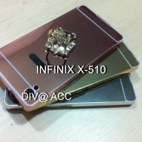 INFINIX X510 / HOT 2 Aluminum Bumper Mirror Hard back Case