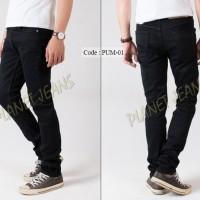 Celana jeans panjang pria skinny / pensil cowok bahan stretch / karet