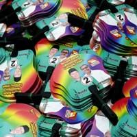 Cetak Kipas Promosi Bahan Plastik PP / PVC