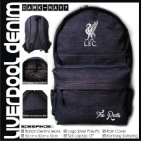 TAS RANSEL BOLA LIVERPOOL DENIM NAVY