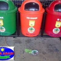 Tempat sampah fiberglass / Tempat sampah bulat /Tempat sampah pilah B3