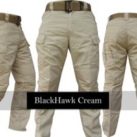 Celana Blackhawk Tactical / Celana Panjang Outdoor cream dan hitam