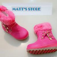 Cuci Gudang! Sepatu Boot Fashion Anak (RE 501-1) - Rose - 21 s/d 25