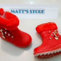 Cuci Gudang! Sepatu Boot Fashion Anak (RE 501-1) - Merah - 21 s/d 25