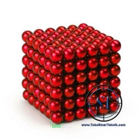 Magnet BALL RED Magnetic Balls Bola Neodymium DIY Puzzle Cube Magnet