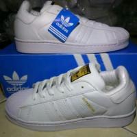 Sepatu Adidas Superstar White Black/ADIDAS PUTIH LIST HITAM