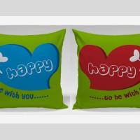 Bantal Sofa / Bantal Couple - Happy With You