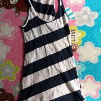 dress anak import hitam putih