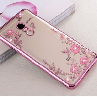 Casing Silicon Soft Case Xiaomi Redmi Note 4 Flower Bling Diamond