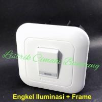 Panasonic Saklar Tunggal Iluminasi WEJ5571 + Frame WEJ78019W