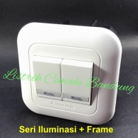 Panasonic Saklar Seri Iluminasi (2xWEJ5571) + Frame WEJ78019W