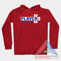Hoodie - Sweater Player Number 1 -Red -Front Logo