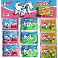 Permen Karet Yosan Bubble 2in1 Isi 24pcs