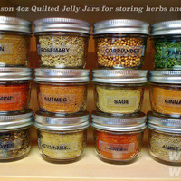 BEST PRICE BALL Mason Quilted Jelly Jar 4 oz Toples Kaca