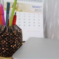 tempat pinsil batik 3d origami