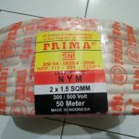 Kabel Listrik Prima NYM 2x1,5 mm Tunggal FreeOngkir Pakai Saldo Tokped