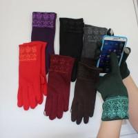 Sarung Tangan Musim Dingin Wanita Touch Screen/Gloves Winter Katun Cew