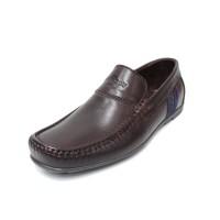 Sepatu Kulit Asli Pria | Crown- Coffee, Sepatu Kulit Moccasin