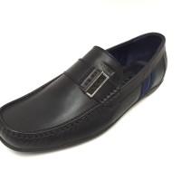 Sepatu Kulit Asli Pria | Chester - Black, Sepatu Kulit Moccasin