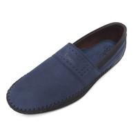 Alsen - Navy, Sepatu Kulit Moccasin