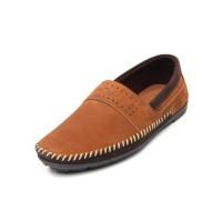 Alsen - Tan, Sepatu Kulit Moccasin