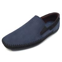 Alba - Navy, Sepatu Kulit Moccasin