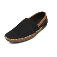 Alsen - Black, Sepatu Kulit Moccasin