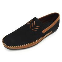 Avon - Black, Sepatu Kulit Moccasin