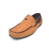 Dave - Tan, Sepatu Kulit Moccasin