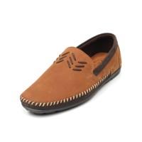 Avon - Tan, Sepatu Kulit Moccasin