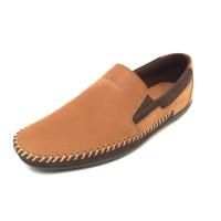 Alba - Tan, Sepatu Kulit Moccasin