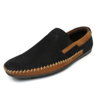 Alba - Black, Sepatu Kulit Moccasin