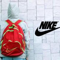 Tas Ransel Sport Nike-Adidas (Hitam-Merah-Gendong,Sekolah) Premium
