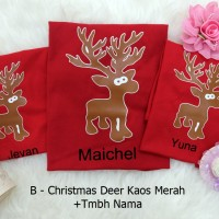 Christmas Deer Kaos Couple Keluarga