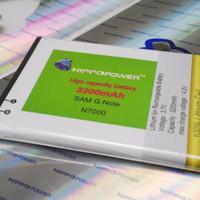 Baterai battery double power hippo Samsung Galaxy Note 1 3200mah
