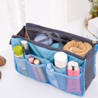 Korean Bag in Bag Cosmetic Resleting Ganda (Double Zipper Organizer)